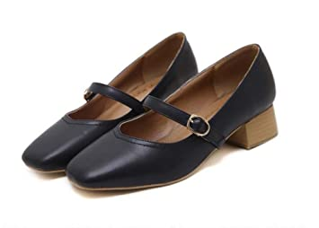Pumpe 3.5cm Chunkly Ferse Ferse Chunkly Niedrig Heels Mary Janes Court Schuhe Casual ... 8e1d3a
