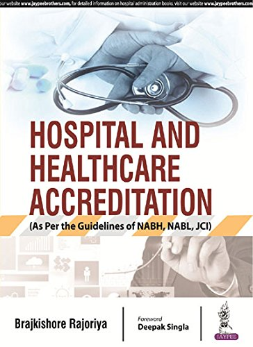 HOSPITAL AND HEALTHCARE ACCREDITATION (AS PER THE GUIDELINES OF NABH, NABL, JCI)