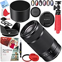Sony SEL55210/B 55-210mm f/4.5-6.3 OSS E-Mount Lens (Black) with 49mm Filter Sets Plus Accessories Bundle