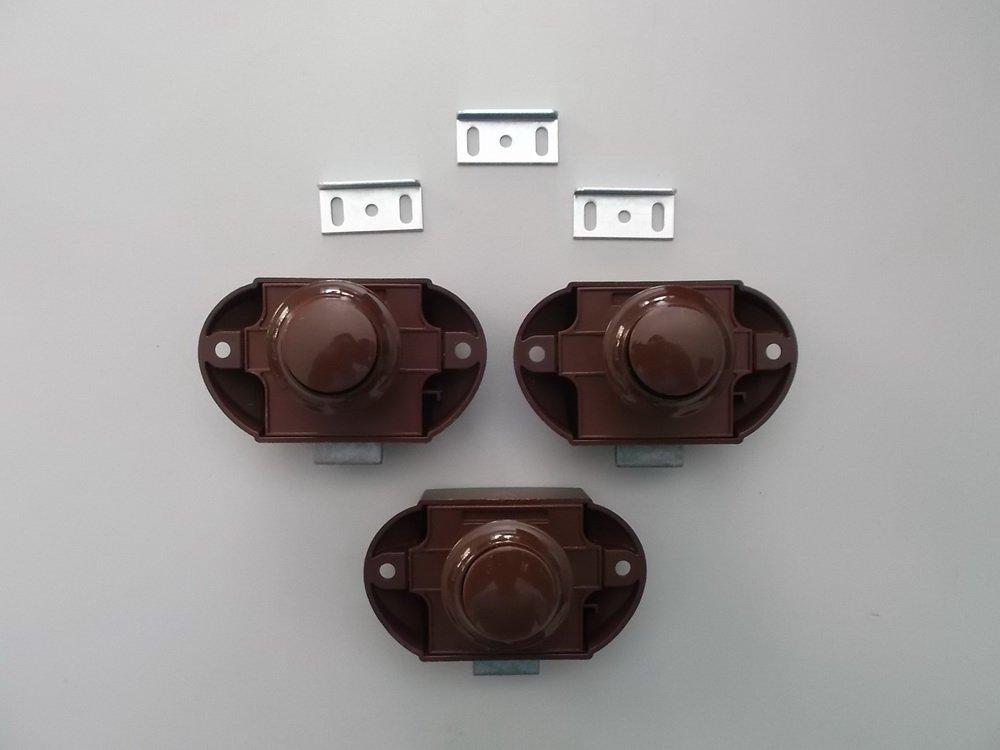 Push Lock Schlö sser - 3er Set - braun Freizeit - Wittke