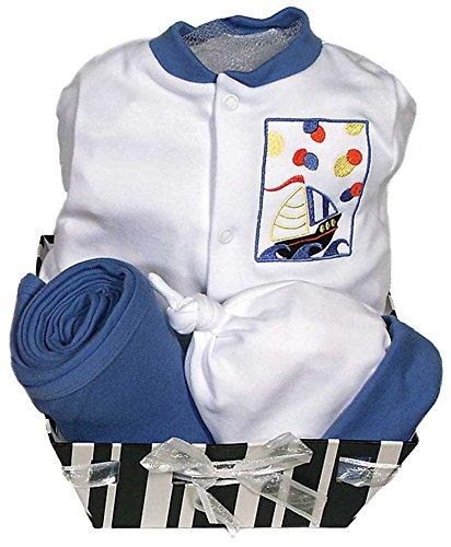 - Raindrops Delightful Brights Sailboat Footie Gift Set, Royal Blue/Black, 0-3 Months, 4 Piece