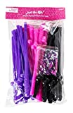 Bachelorette Party Straws by LIZZIE FROST | 24 Pack - Pink, Purple, Black + Confetti - Perfect for Bachelorette & Bridal Party Favors & Decorations - Girls Night Out