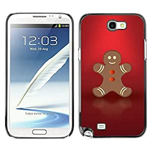 YOYO Slim PC / Aluminium Case Cover Armor Shell Portection //Christmas Holiday Red Gingerbread Man 1083 //Samsung Note 2