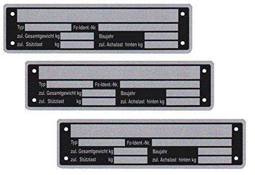 FKAnhä ngerteile Blank pendentif plaque signalé tique plaque signalé tique remorque Neutre FKAnhängerteile