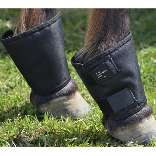 51XhsDTTdaL - Fetlock Shield Cordura material. One size fits up to a large warmblood. Protects the fetlock and pas