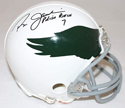 7bc9b0e22e2 Ron Jaworski Signed Philadelphia Eagles Mini Helmet Polish Rifle JSA