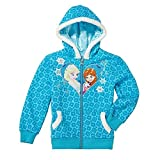 Youth & Little Girls Fleece Lined Hoodie Frozen Elsa and Sofia Zip-up Hoodie Size 3T - 6X (6X)