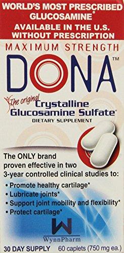 DONA Crystalline Glucosamine Sulfate, Caplets-60 (Caplets Glucosamine)