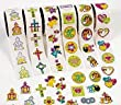 6 Rolls of 100 Assorted Christian Stickers for Kids | Childrens Sticker Rolls