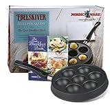 Nordic Ware Ebelskiver Pancake Pan, & Breakfast Recipe Book ,Gift Set