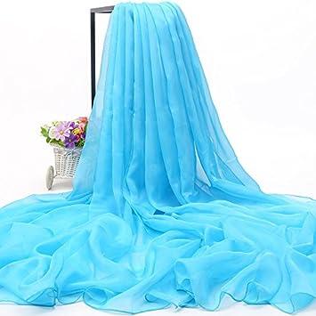 LLZWJ® - Chal/Mono/decoración/Regalo/Bufanda Mujer Salvaje Bufanda Larga Parasol Toalla de Playa multifunción Bufanda Chal, Azul Celeste: Amazon.es: ...