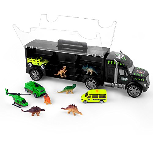 Dinosaur Toys for Boys, Gifts2U Dinosaur Transport Car Carrier Dinosaur Truck with Dinosaurs, Cars, Airplane for Kids; Great Birthday & Christmas Gift Dinosaurs Toys for Boys Age 3,4,5,6,7,8,9 - Cards Gift Online Australia