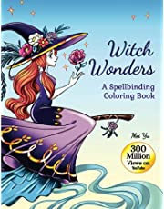 """Witch Wonders: A Spellbinding Coloring Book (Large Softcover): Relaxing Fantasy Coloring Book for Teens & Young Adults with Beautiful Coloring Pages of Glamorous Witches, Haunting Scenes, & Magical Animals for Fun & Creativity (Large 8.5""""x11"""")"""