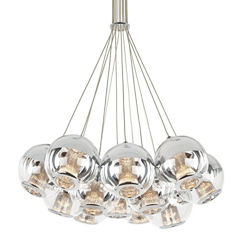 Kichler 65406 Crystal Ball Mini Pendant 1-Light, Brushed Nickel
