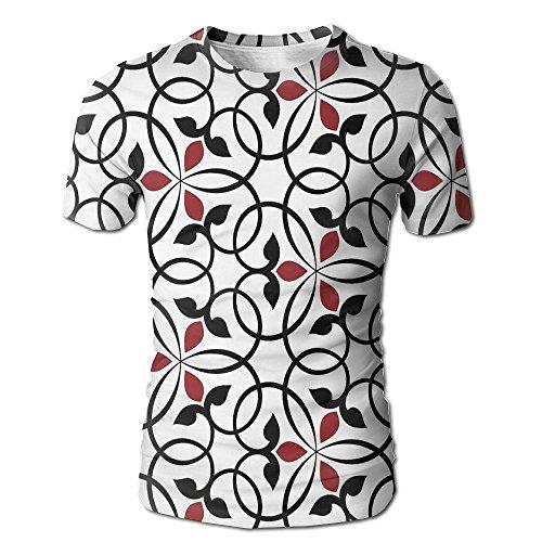 ZGXJJPP Men T-Shirts Fashion Heart-Shaped Candlestick 3D Printed Short Sleeve Shirts