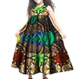 Whitive Girl Fine Cotton African Wax Fabric Swing Bridesmaid Dresses Coffee M