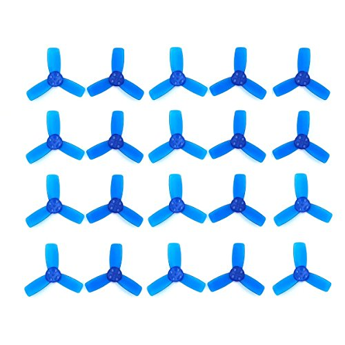 Usmile Emax 10 Pairs of 2345 Propeller Props for Babyhawk Brushless Micro Carbon Fiber Quadcopter Quad frame (Blue)