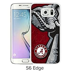 Lovely and Nice Samsung Galaxy S6 Edge Case Design with Ncaa Alabama Crimson Tide White Case for Samsung Galaxy S6 Edge