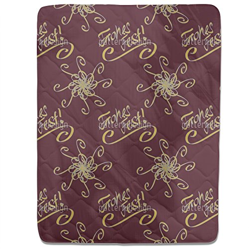 Holy Days Brown Fitted Sheet: King Luxury Microfiber, Soft, Breathable by uneekee