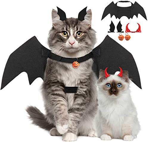 Legendog Cat Costume Halloween Bat Wings Pet Costumes Pet Apparel for Small Dogs and Cats (Bat Wings) 23