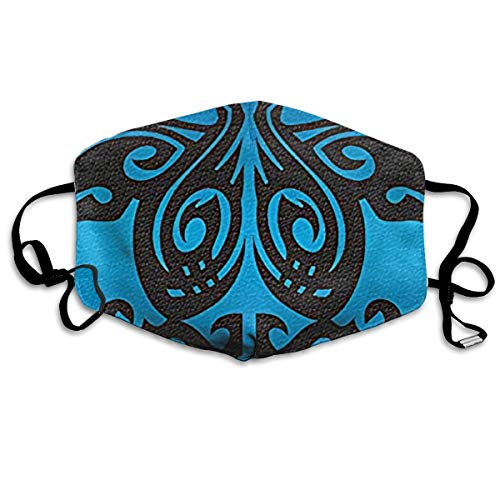(Unisex Hawaii Tribal Honu Turtle Blue Printed Cotton Mouth-Masks Face Mask Polyester Anti-dust Masks)