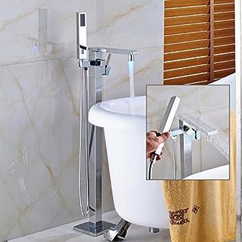 JiaYouJia Floor Mounted Clawfoot Tub Filler Shower with