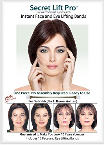 Secret Lift Pro - Face and Eye Lift (Dark Hair) (Best Non Surgical Cheek Lift)
