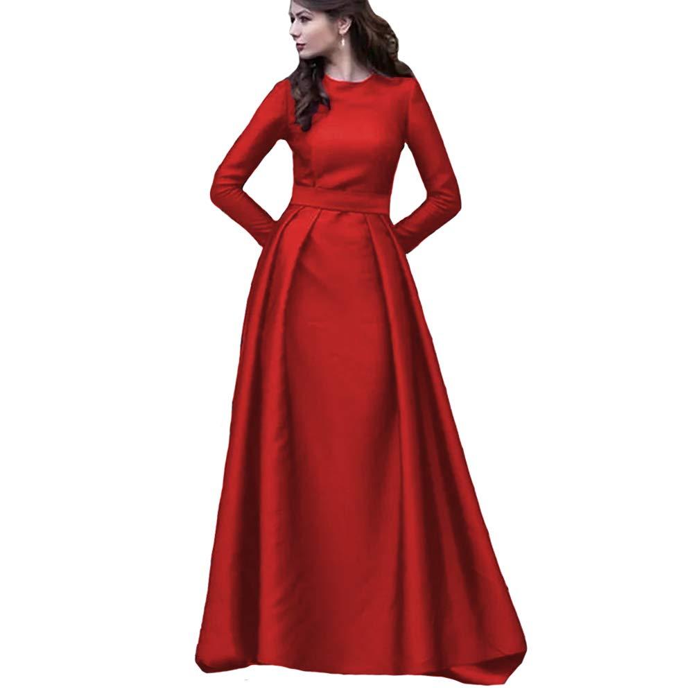 Red KaBuNi Women's Long Sleeve A line Wedding Dresses Formal Prom Dresses