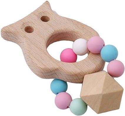 Teething Key Shape Silicone Wood Bracelet Baby Newborn Children/'sTeether Toy