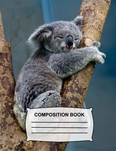 Composition Book: Unruled Blank Sketch Paper - Sketchbook for kids, Cute Koala Bear Drawing Notebook for school, Journal for girls, boys, students, teachers gift, class and office supplies