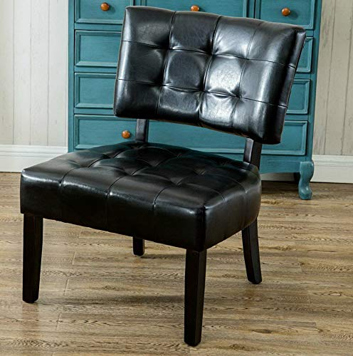 - Hebel Blended Leather Tufted Oversized Accent Chair | Model CCNTCHR - 33 |