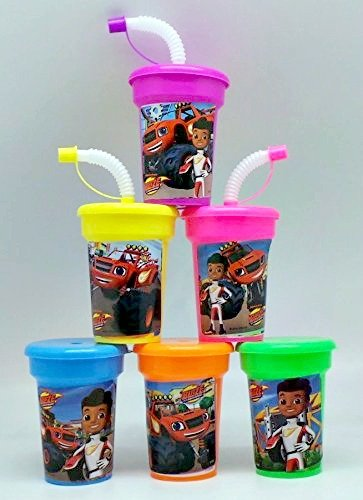 Price comparison product image 6 Blaze and the Monster Machines Stickers Birthday Sipper Cups with lids Party Favor Cups