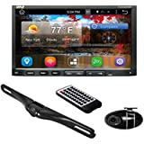Pyle PLDNANDVR695 - Android Car Stereo Double Din DVR Dash Cam Backup Camera Kit- DVD, Hands free Bluetooth USB SD Reader