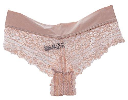 Bevalsa Pacco Bassa Tanga Donna Slip C Brasiliane Traspirante Lingerie Sexy Da Intimo 3 Pizzo Mutanda Vita Multipack 4x4w8RFr