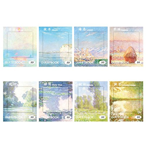 dfsdmlp 1 Pc Self-Adhesive Notepad Memo Stickers Memo Pads 11cmx9cm,Random Delivery