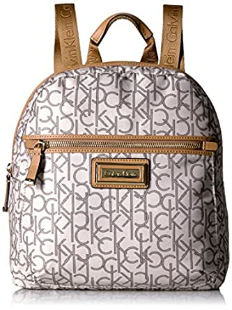Calvin Klein Calin Klein Key Item Nylon Zip Around Backpack, Alm/Khk Combo