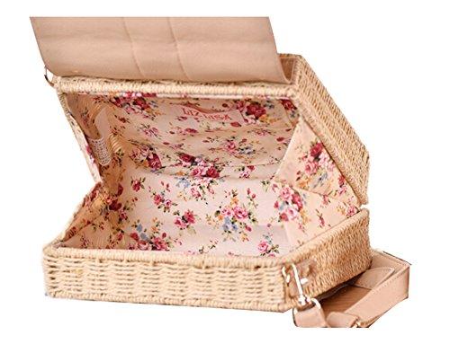 FAIRYSAN Borsa a tracolla in tessuto borsa a tracolla singola in pelle di Beige