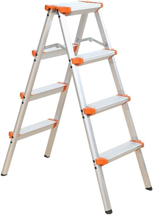 N/A Escalera Plegable para el Hogar: Escalera de Cuatro O Cinco Escalones, Escalera de Doble Cara de Aluminio Grueso, Taburete de Tiro, Escalera Pequeña, Taburete de Caballo,Naranja,C: Amazon.es: Deportes y aire libre