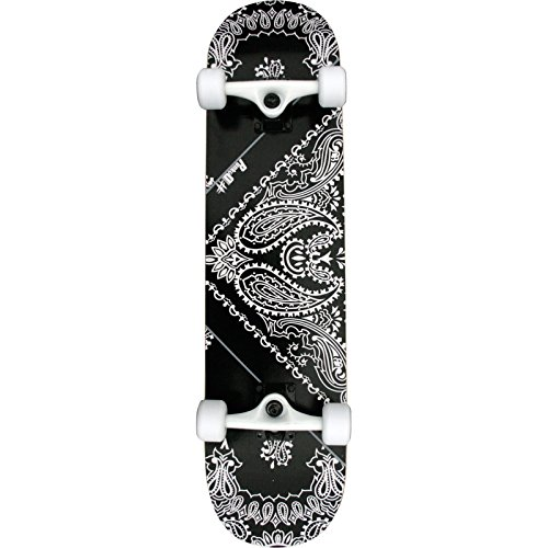 Bandana Skateboard Truck (Punked Bandana Complete Skateboard - 7.75 Black)