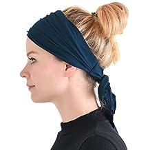 Casualbox | Pre-tied Headband Boho Hair Band Summer Mens Womens Head Wrap Hippie Navy