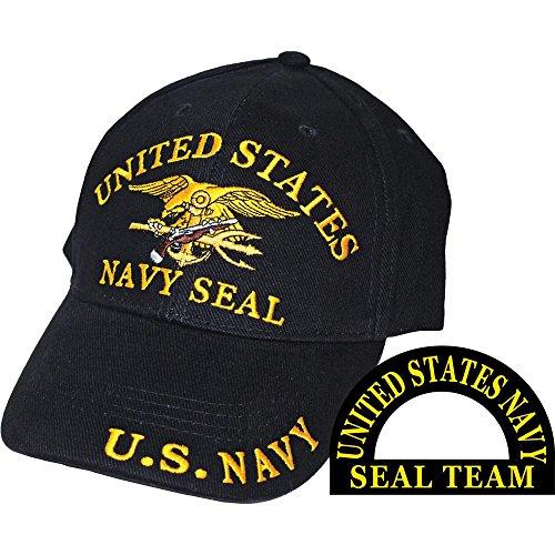 United States Navy Seal Team Trident Black Hat Cap USN