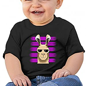 Wodehous Adonis Llama with Pink Line Sunglass Baby Casual Round Neck T-Shirts Short Sleeve Tops