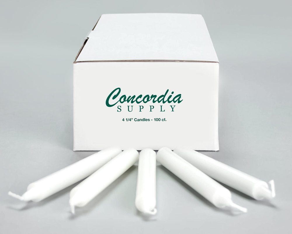 Box of 100 Concordia Supply Candlelight Service Vigil Candles 4.25 x 1//2