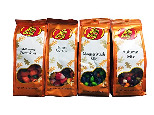 Jelly Belly Fall Selection Mix 4pk - Mellocreme Pumpkins 7.5