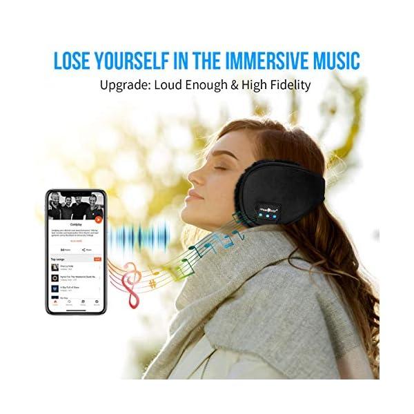 Bluetooth Ear Warmers Ear Muffs for Winter Women Men Kids Girls, MUSICOZY Bluetooth Earmuffs Headphones, Unique Tech Top Gadgets Travel Cool Birthday Gifts Dad Mom Her Him Teen Boys Girls Adults