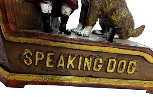 Global Art World J. E. Stevens Company 1897 Re-Creation Heavy Quality Antique Style Cast Iron Mechanical Vintage Speaking Dog Money Box Bank MB 04 by Global Art World (Image #6)