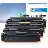 S SMARTOMNI Compatible Toner Cartridge Replacement for HP 410A CF410A CF411A CF412A CF413A (KCMY, 4-Pack), Compatible use with Color Laserjet Pro MFP M477fdn M477fdw M477fnw, M452dn M452nw M452dw