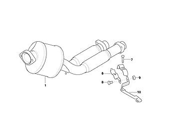 BMW Genuine Exhaust Suspension Support Shackle E39//E38 18212247983