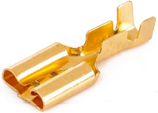 4.8mm Conector Hembra de horquilla Crimp Terminal 22-16AWG con aislante Manga 100 un.!