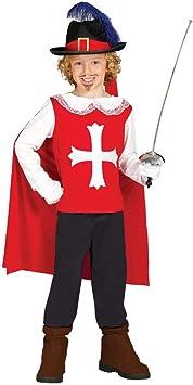 Horror-Shop Disfraz Mosquetero Rojo-Blanco L ca.36 Mon ...